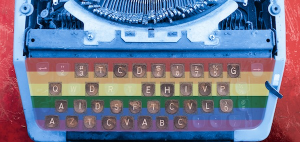 AIDS Typewriter, 2011, archival pigment print in edition of 25 , 17 by 8.5 inches © Grahame Perry Photography 2013–2015