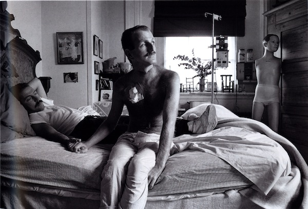 Sage Sohier, David and Eric, Boston, 1986, archival pigment print, 15.5 by 23 inches; collection of Leslie-Lohman Gay Art Museum
