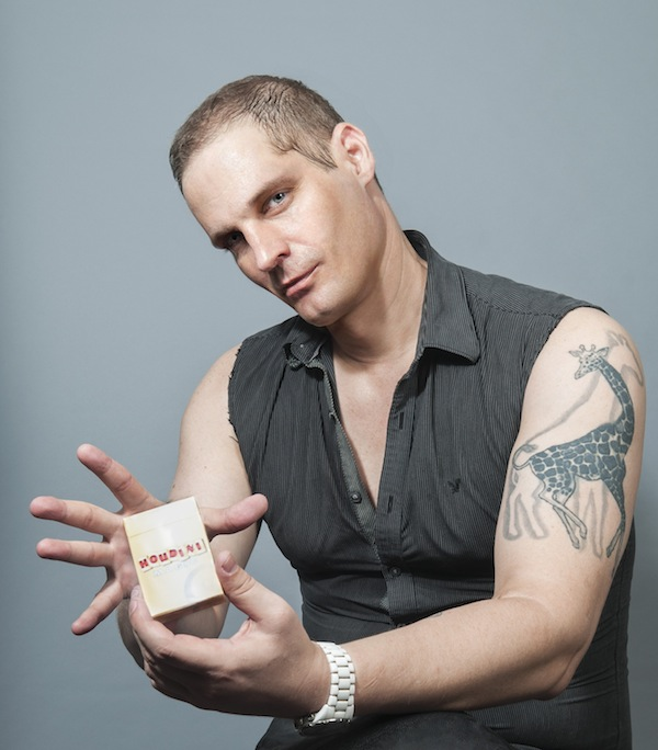 Daniel Bauer, magician, escape artist, motivational speaker, and HIV activist, photographed exclusively for A&U Magazin,e September 2015 issue.