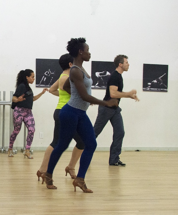 Daniel Enskat teaches a dance class at Baila Society, located in Union Square area, NYC.