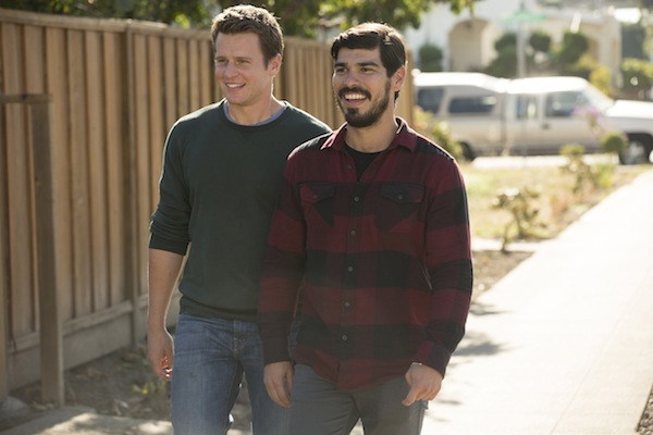 Jonathan Groff and Raul Castillo in the second season of LOOKING. Photo by John P. Johnson