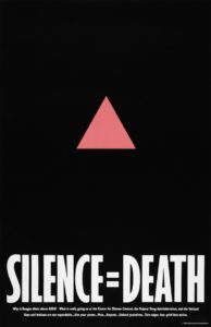 SILENCE=DEATH, The SILENCE=DEATH project, 1986, offset lithography, 22 by 34 inches