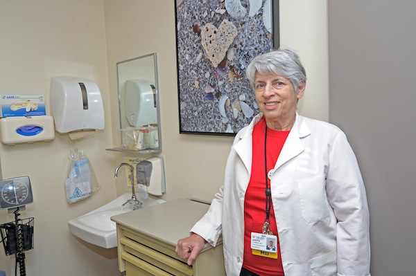 Dr. Feinberg in her office. Photo courtesy Univ. of Cincinnati