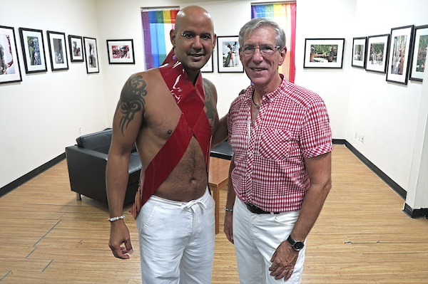 "Rios & Lester, 2015, Ultrachrome archival photo print, 15 by 10 inches. ""Warrior of Hope"" Opening Reception at the Pride Center of Staten Island"