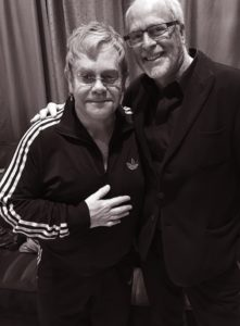 Good friends Elton John and Greg Gorman, who serves on the Elton John AIDS Foundation board of advisors