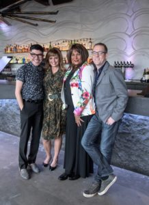 Dining Out For Life sponsored by longtime host sponsor Subaru. Pictured are 2016 volunteer spokespeople (left to right) Mondo Guerra, Daisy Martinez, Pam Grier, and Ted Allen. Photo by Nick D'Amico/15 Minutes Inc.