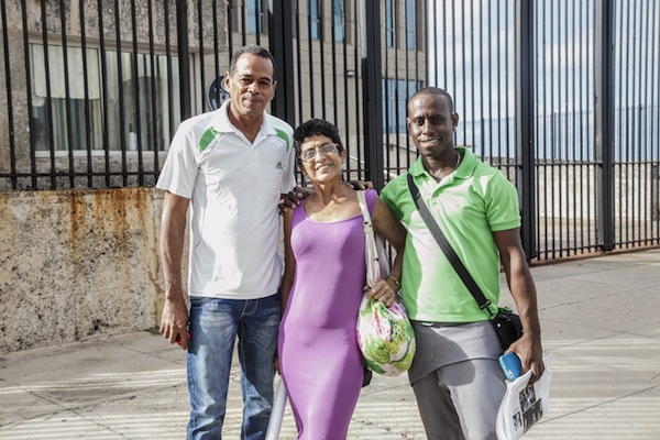 Jesús Manuel Rodrigues Valle and Belkis Fonseca, both of Centro Esperanza Cuba, alongside Nelson Alvarez Matute, of Afro-Mas. Photo by Sean Black