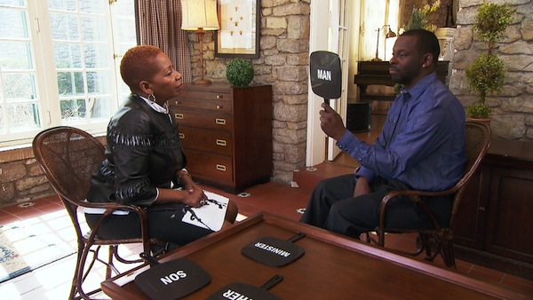 Pastor Jones in a moment of self-reflection with Iyanla, on her TV show. Photo courtesy OWN
