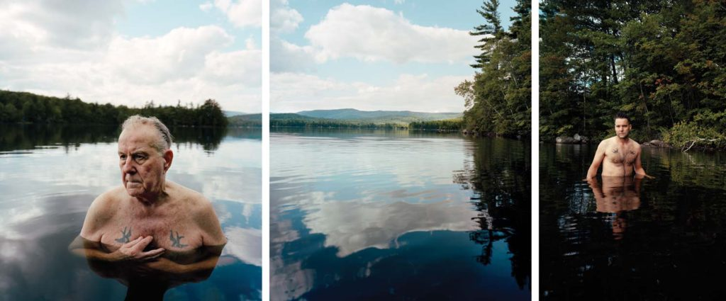 Rock Bottom, 2008, archival pigment prints (triptych), 40 by 60 inches