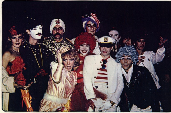 "My friends in NYC, 1980: ""Richard Cheney, in his Pierrot, and Ron Baretta in his Swami exotic. Richard made these costumes. They were professional. Good enough for Broadway. He did that all the time. Out of these friends, five died of AIDS in the next six years, two are positive, one died of cancer, and the others unknown. At the time this photograph was taken we were still having the time of our lives. No one knew they had AIDS or HIV."" Photo courtesy S. Lewis"