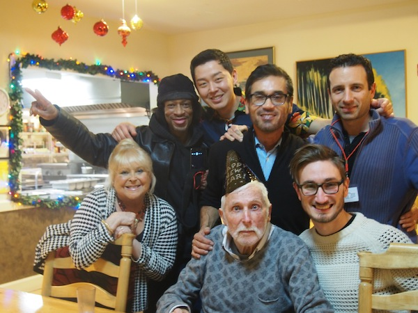 Volunteers and residents celebrate a birthday at Maitri. Photo courtesy Maitri