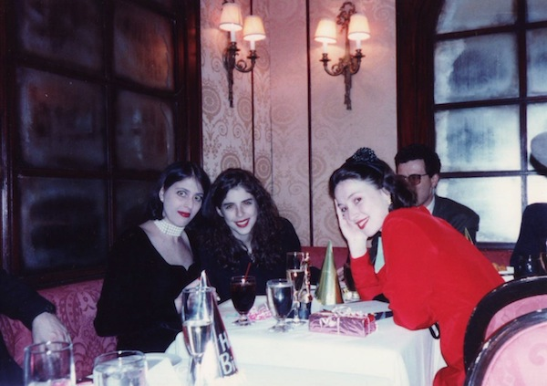 Alison Gertz's twenty-seventh birthday at Tatou Nightclub. 2/27/92. From left to right: Alison Gertz, Dini von Mueffling, and Victoria Leacock Hoffman. Photo by V. Leacock Hoffman