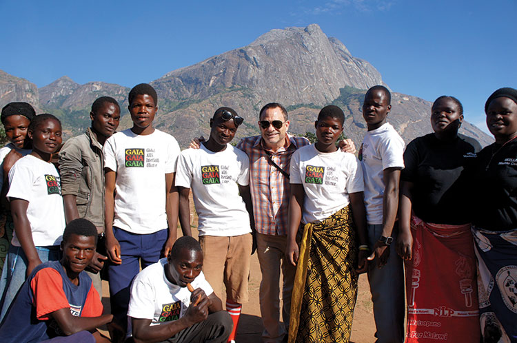 At Mount Mulanje (Malawi) with leaders of Grassroot Soccer, an HIV prevention program for teens funded by ETAF in May 2015. Photo by Todd Schafer