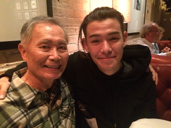 Ryan with costar George Takei. Photo courtesy R. Potter
