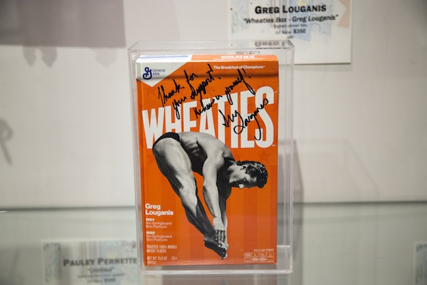 Greg recently donated a signed Wheaties box to APLA's recent auction at Bonhams to help raise funds.