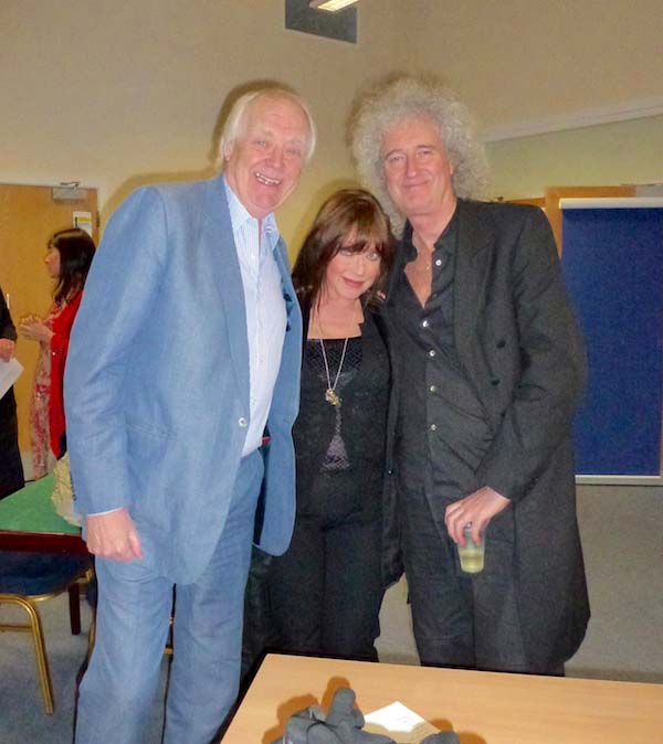 Jones with Sir Tim Rice and Brian May of Queen. Photo © L. Jones