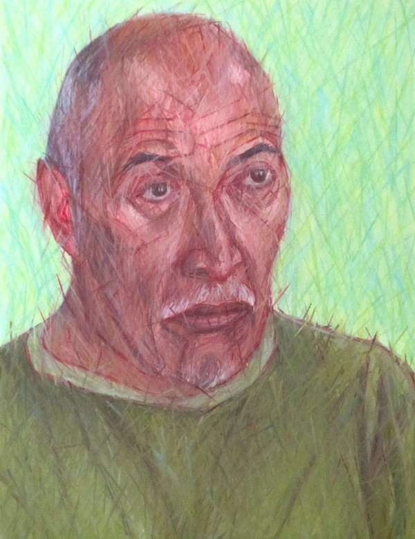 Mario Galande, August 2015, oil on canvas, 11 by 14 inches