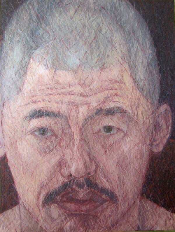 Ghee Phua (self-portrait), 2015, oil on canvas, 9 by 12 inches