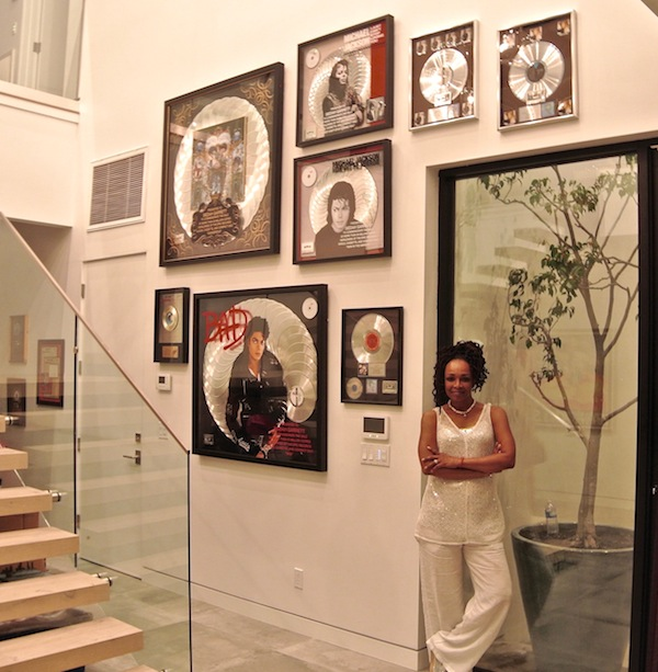 Siedah Garrett and her BAD wall in her home. Photo courtesy Erik Nuri